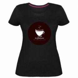 Женская стрейчевая футболка #CoffeLover