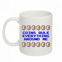Кружка 320ml Coins rule everything around me - FatLine