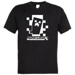 Чоловіча футболка з V-подібним вирізом Color Minecraft