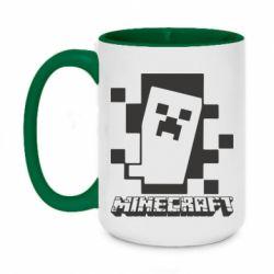 Кружка двоколірна 420ml Color Minecraft