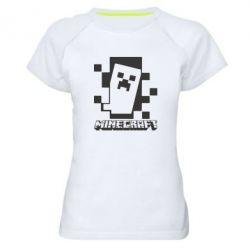 Жіноча спортивна футболка Color Minecraft