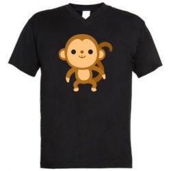 Чоловіча футболка з V-подібним вирізом Colored monkey