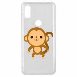 Чехол для Xiaomi Mi Mix 3 Colored monkey