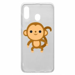 Чохол для Samsung A20 Colored monkey