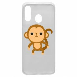 Чохол для Samsung A40 Colored monkey