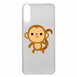 Чохол для Samsung A70 Colored monkey