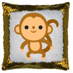 Подушка-хамелеон Colored monkey