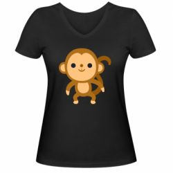 Жіноча футболка з V-подібним вирізом Colored monkey