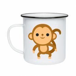Кружка емальована Colored monkey