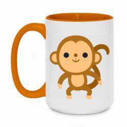 Кружка двоколірна 420ml Colored monkey