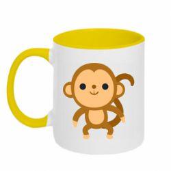 Кружка двоколірна 320ml Colored monkey
