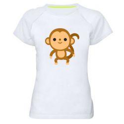 Жіноча спортивна футболка Colored monkey