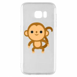 Чохол для Samsung S7 EDGE Colored monkey