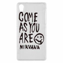 Чехол для Sony Xperia Z2 Come as you are Nirvana - FatLine