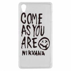 Чехол для Sony Xperia Z3 Come as you are Nirvana - FatLine