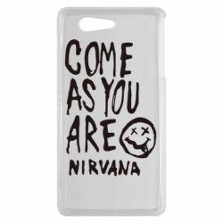 Чехол для Sony Xperia Z3 mini Come as you are Nirvana - FatLine