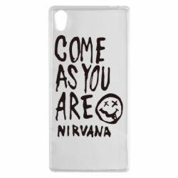 Чехол для Sony Xperia Z5 Come as you are Nirvana - FatLine