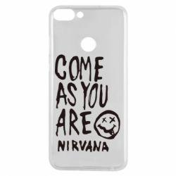 Чехол для Huawei P Smart Come as you are Nirvana - FatLine