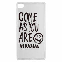 Чехол для Huawei P8 Come as you are Nirvana - FatLine