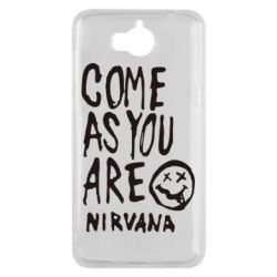 Чехол для Huawei Y5 2017 Come as you are Nirvana - FatLine