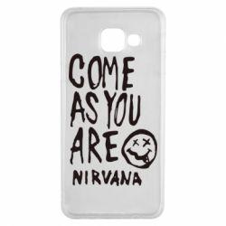 Чехол для Samsung A3 2016 Come as you are Nirvana - FatLine