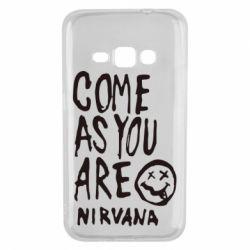 Чехол для Samsung J1 2016 Come as you are Nirvana - FatLine