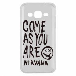 Чехол для Samsung J2 2015 Come as you are Nirvana - FatLine