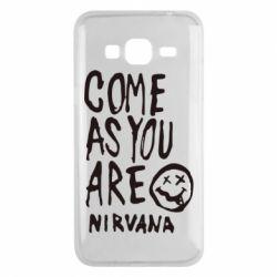Чехол для Samsung J3 2016 Come as you are Nirvana - FatLine