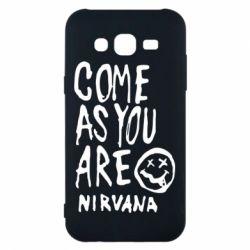 Чехол для Samsung J5 2015 Come as you are Nirvana - FatLine
