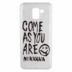 Чехол для Samsung J6 Come as you are Nirvana - FatLine
