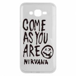 Чехол для Samsung J7 2015 Come as you are Nirvana - FatLine