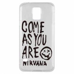 Чехол для Samsung S5 Come as you are Nirvana - FatLine