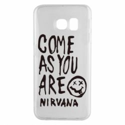 Чехол для Samsung S6 EDGE Come as you are Nirvana - FatLine