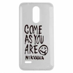 Чехол для LG K7 2017 Come as you are Nirvana - FatLine