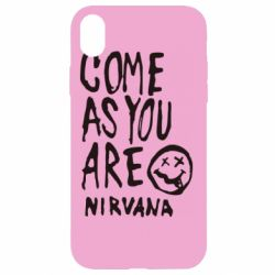 Чехол для iPhone XR Come as you are Nirvana - FatLine