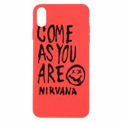 Чехол для iPhone Xs Max Come as you are Nirvana - FatLine