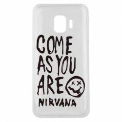 Чехол для Samsung J2 Core Come as you are Nirvana - FatLine