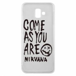 Чехол для Samsung J6 Plus 2018 Come as you are Nirvana - FatLine