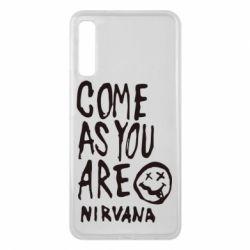Чехол для Samsung A7 2018 Come as you are Nirvana - FatLine