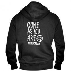 Мужская толстовка на молнии Come as you are Nirvana - FatLine