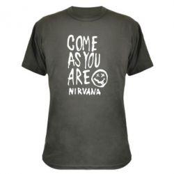 Камуфляжная футболка Come as you are Nirvana