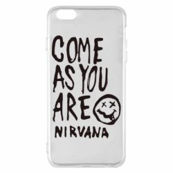 Чехол для iPhone 6 Plus/6S Plus Come as you are Nirvana - FatLine