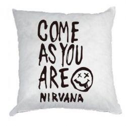 Подушка Come as you are Nirvana - FatLine