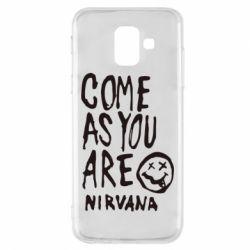 Чехол для Samsung A6 2018 Come as you are Nirvana - FatLine