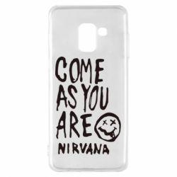 Чехол для Samsung A8 2018 Come as you are Nirvana - FatLine