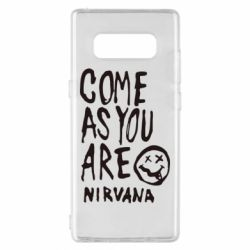 Чехол для Samsung Note 8 Come as you are Nirvana - FatLine