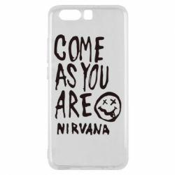 Чехол для Huawei P10 Come as you are Nirvana - FatLine