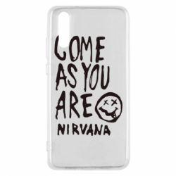 Чехол для Huawei P20 Come as you are Nirvana - FatLine