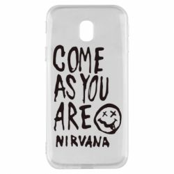 Чехол для Samsung J3 2017 Come as you are Nirvana - FatLine