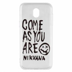 Чехол для Samsung J5 2017 Come as you are Nirvana - FatLine
